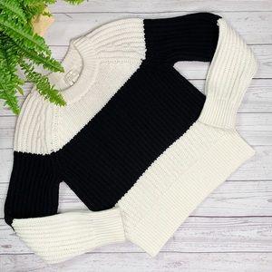 Kate Spade Knit Black & Ivory Sweater Sz S